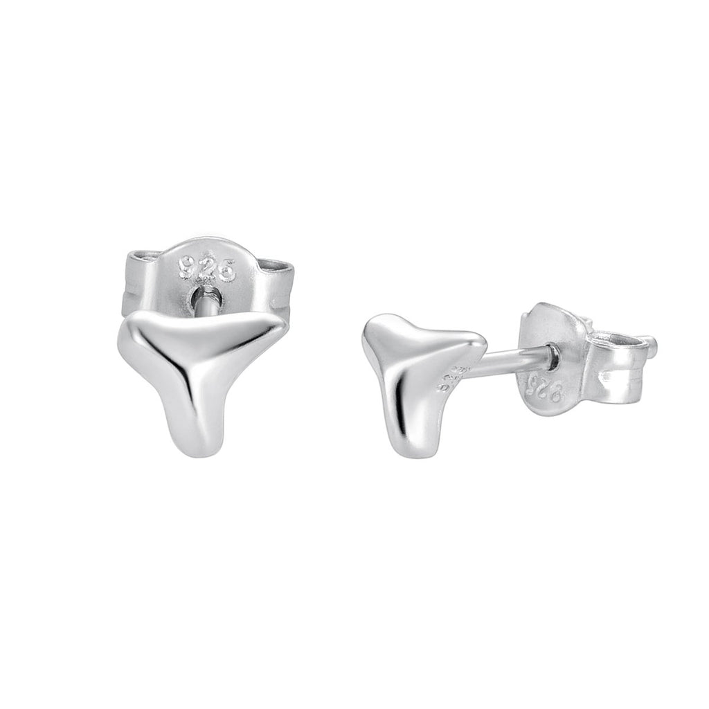 Shark Tooth Earring Silver