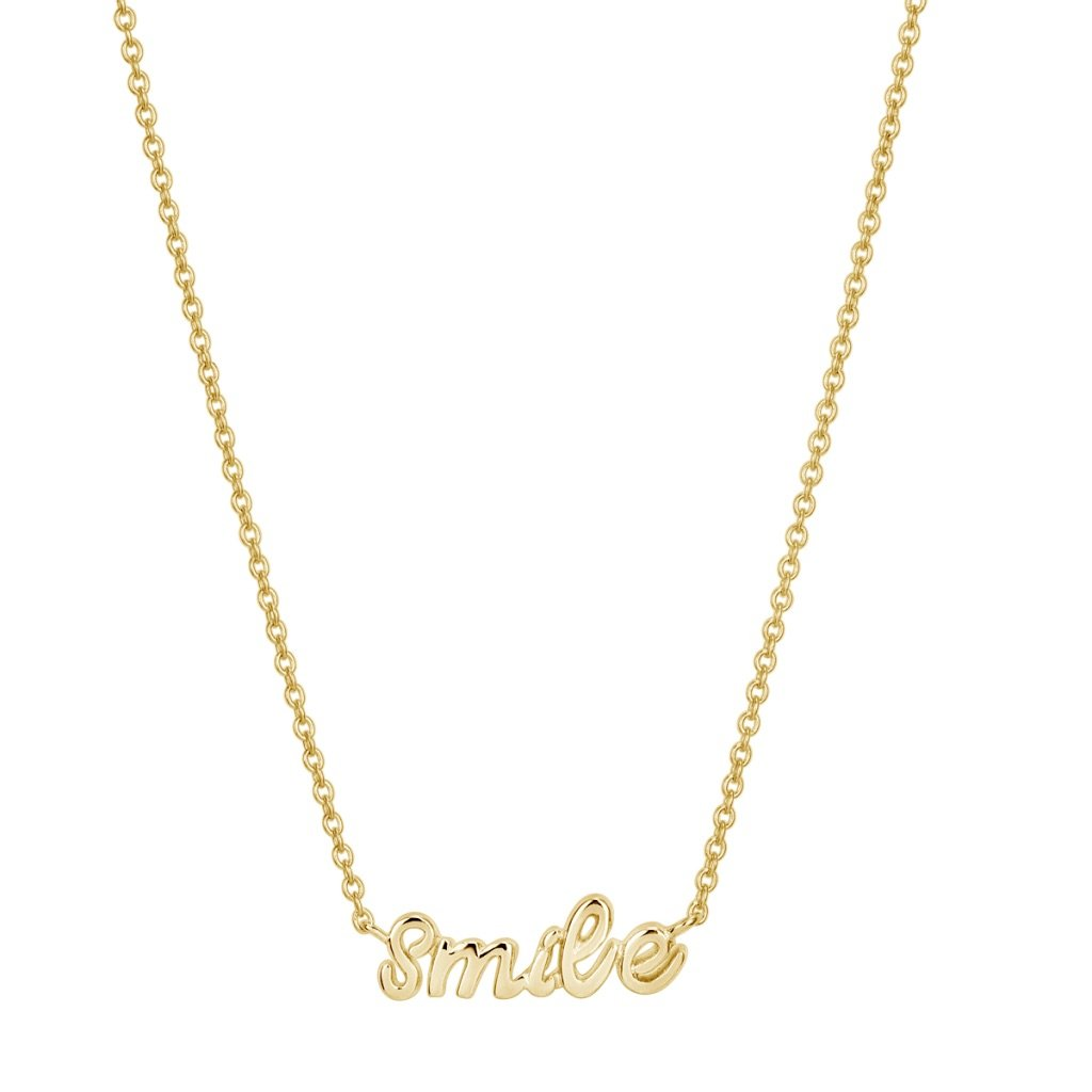 Smile Necklace Gold