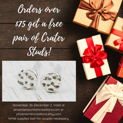 Free crater studs with $75 purchase for cyber weekend