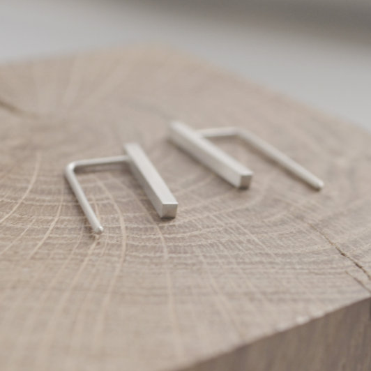 Simple Line Pendant Earrings