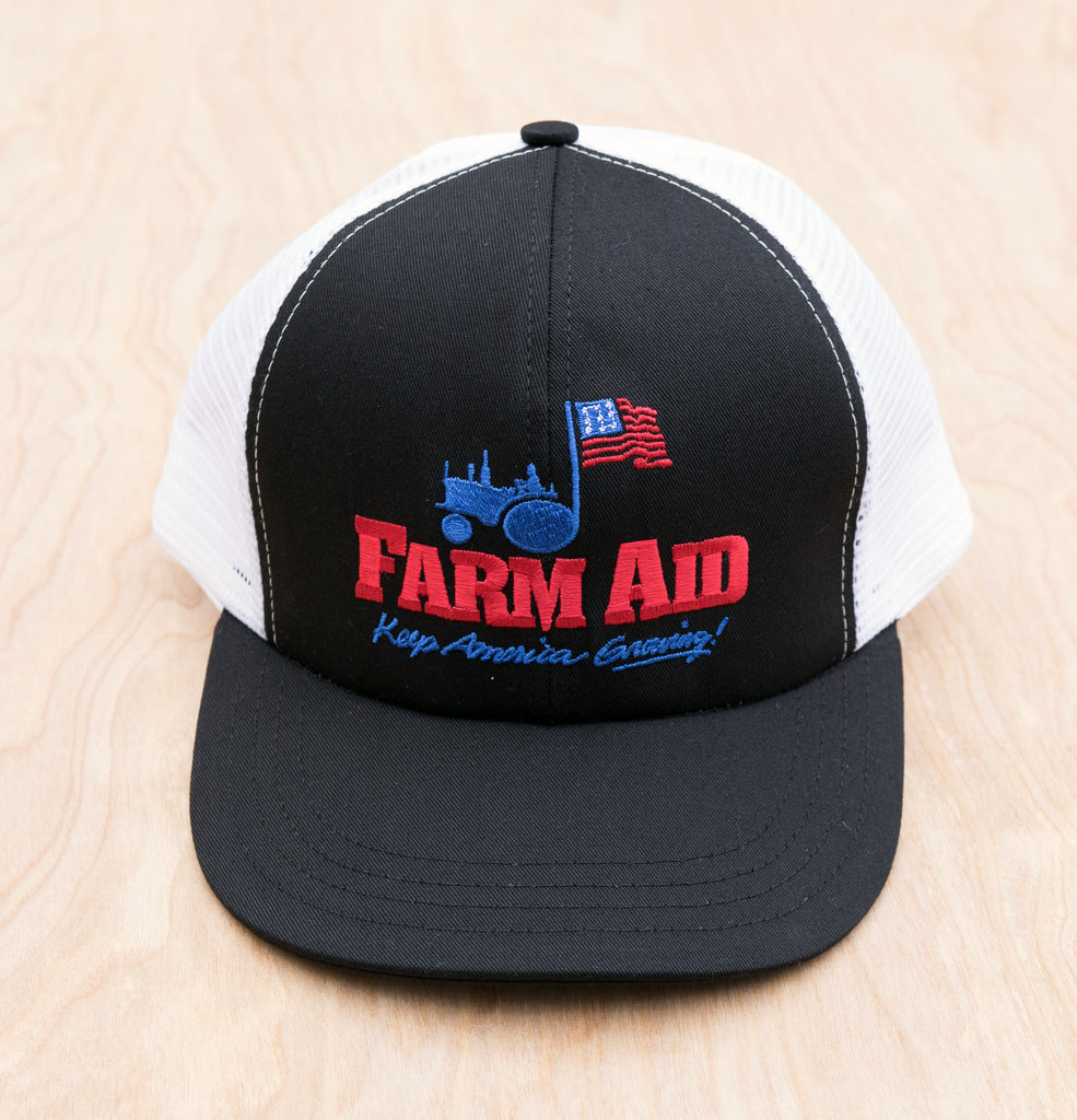 Black Farm Aid Logo Trucker Hat