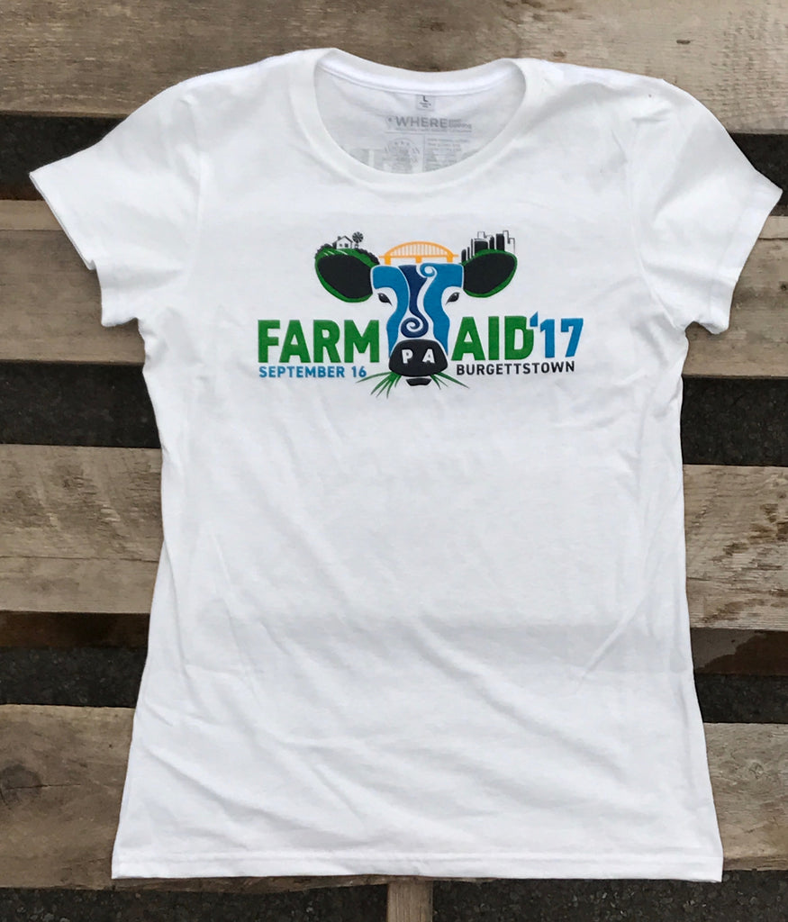 Farm Aid 2017 Ladies' Logo Tee
