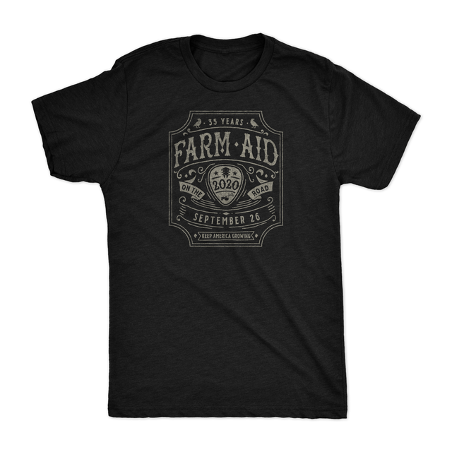 Farm Aid 2020 Guitar Pick Tee - Black