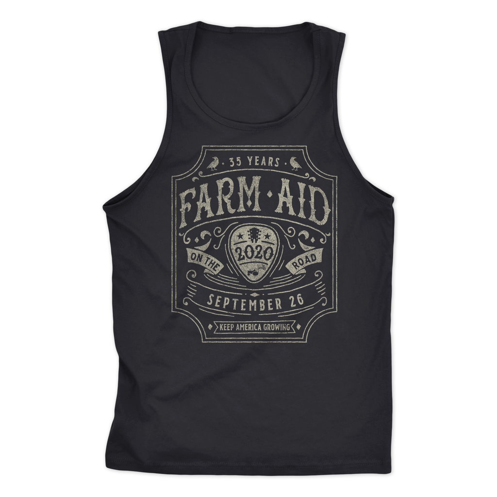 Farm Aid 2020 Guitar Pick Tank - Black