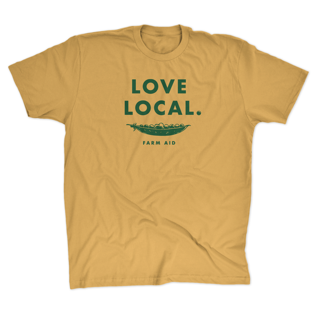 Farm Aid Love Local Tee - Mustard