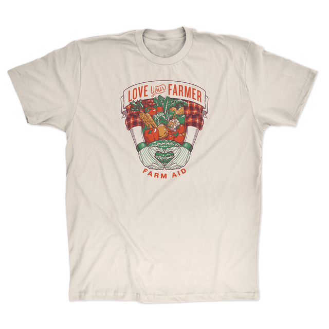 Farm Aid Love Your Farmer Tee - Natural/Beige