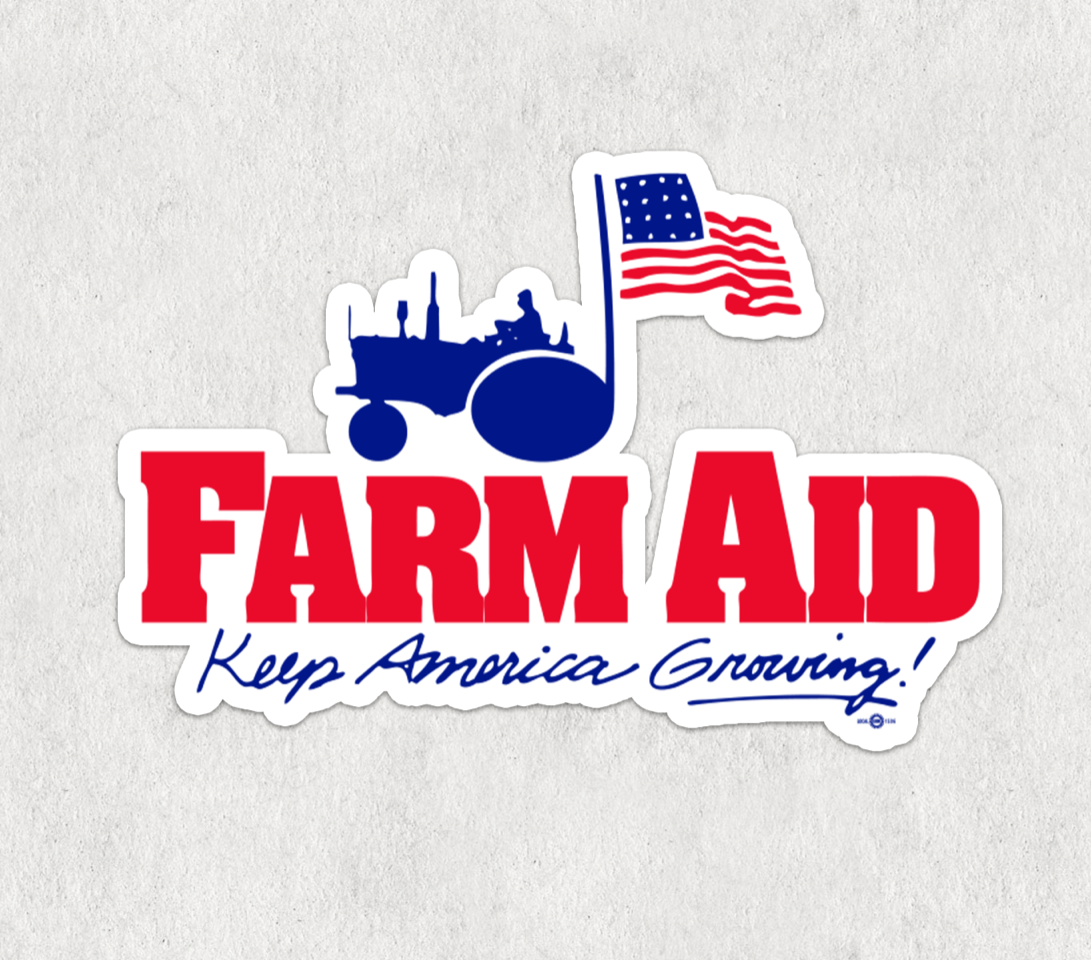 Farm Aid Logo Sticker
