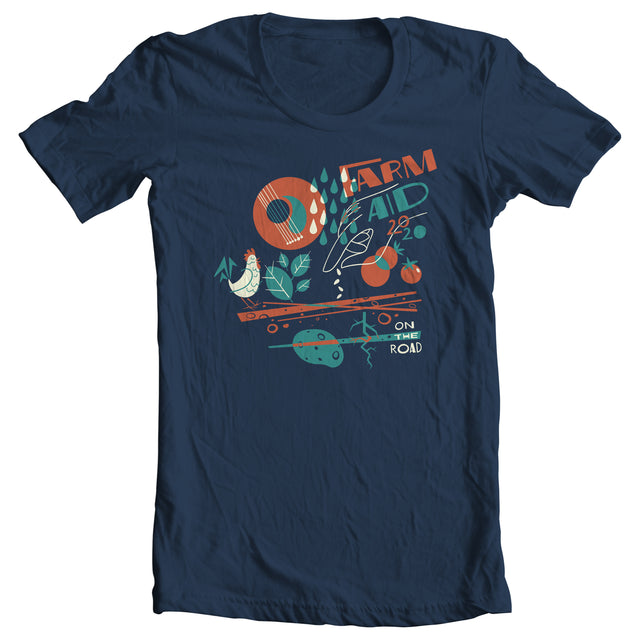 Farm Aid 2020 Abstract Garden Tee - Navy