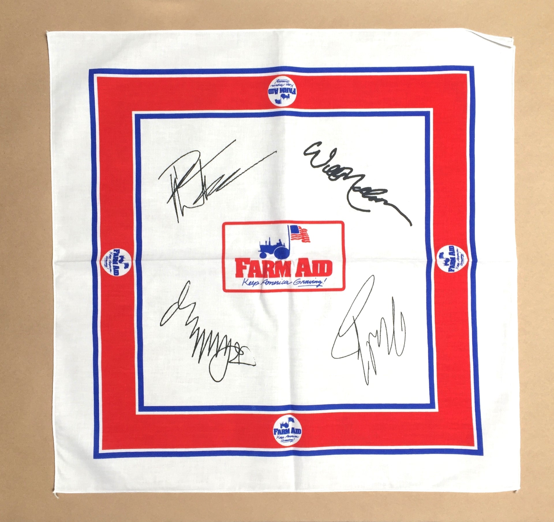 Farm Aid White Signature Bandana