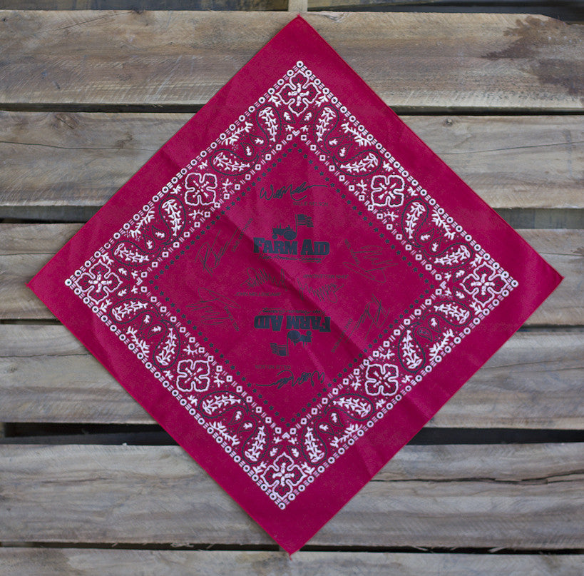 Farm Aid Red Signature Bandana