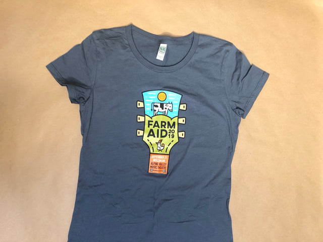 Farm Aid 2019 Logo Tee in Grey (Womens)