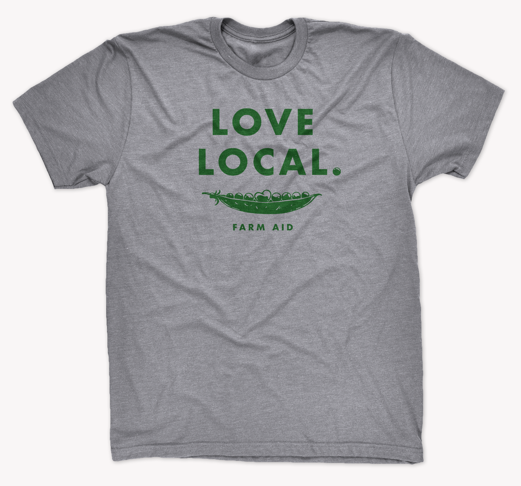 Farm Aid Love Local Tee - Heather Grey