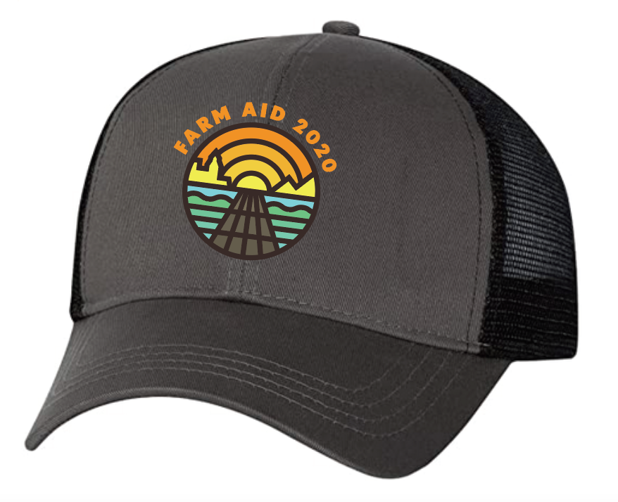 Farm Aid 2020 Logo Trucker Hat - Charcoal on Black