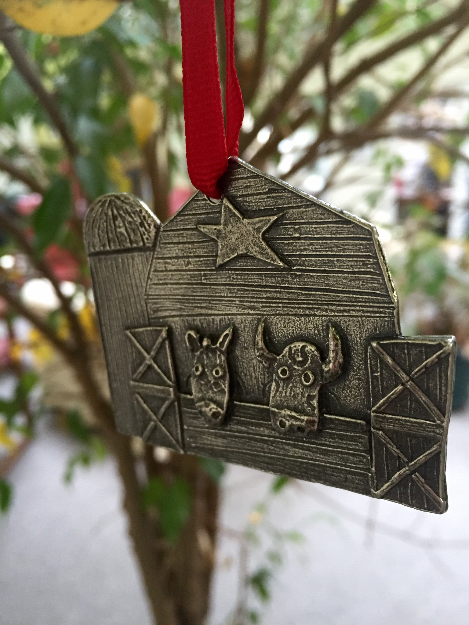 Farm Aid Holiday Barn Ornament