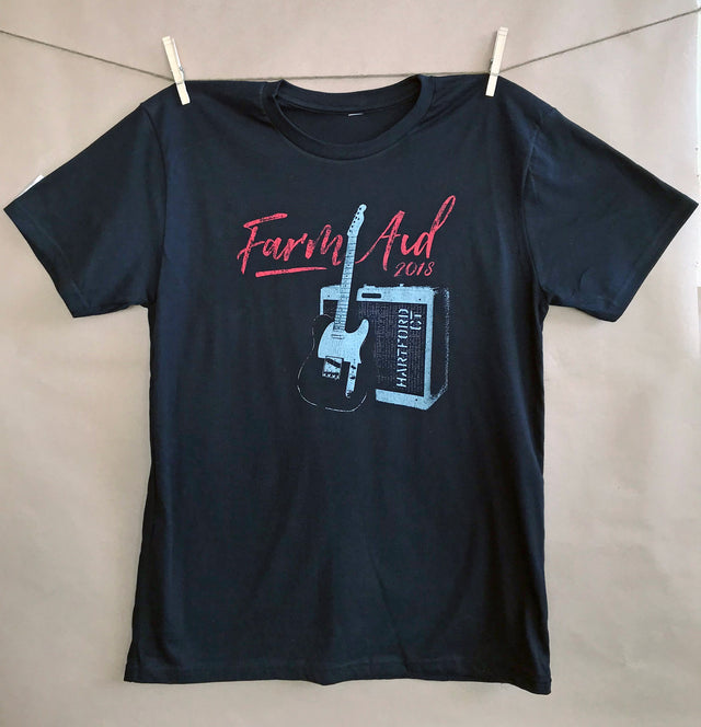 Farm Aid 2018 Black Guitar Tee