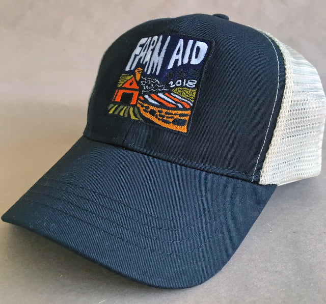 Farm Aid 2018 Black Concert Logo Trucker Hat