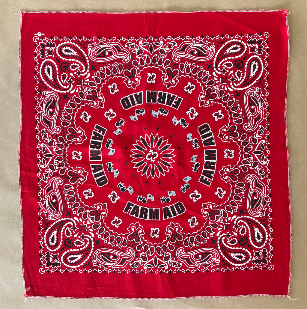 Organic Cotton Red Bandana