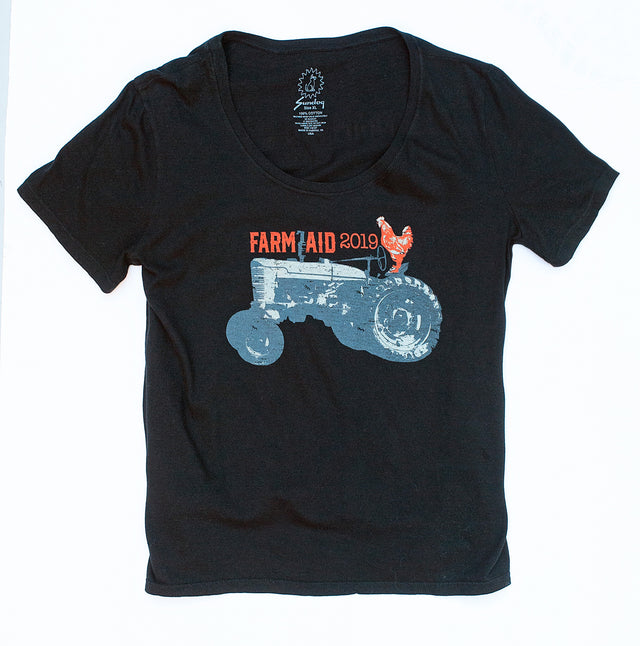 Farm Aid 2019 Black Tractor Tee (Women's)