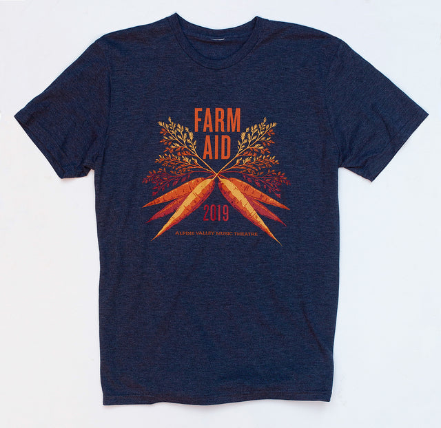 Farm Aid 2019 Navy Blue Carrot Tee (Unisex)