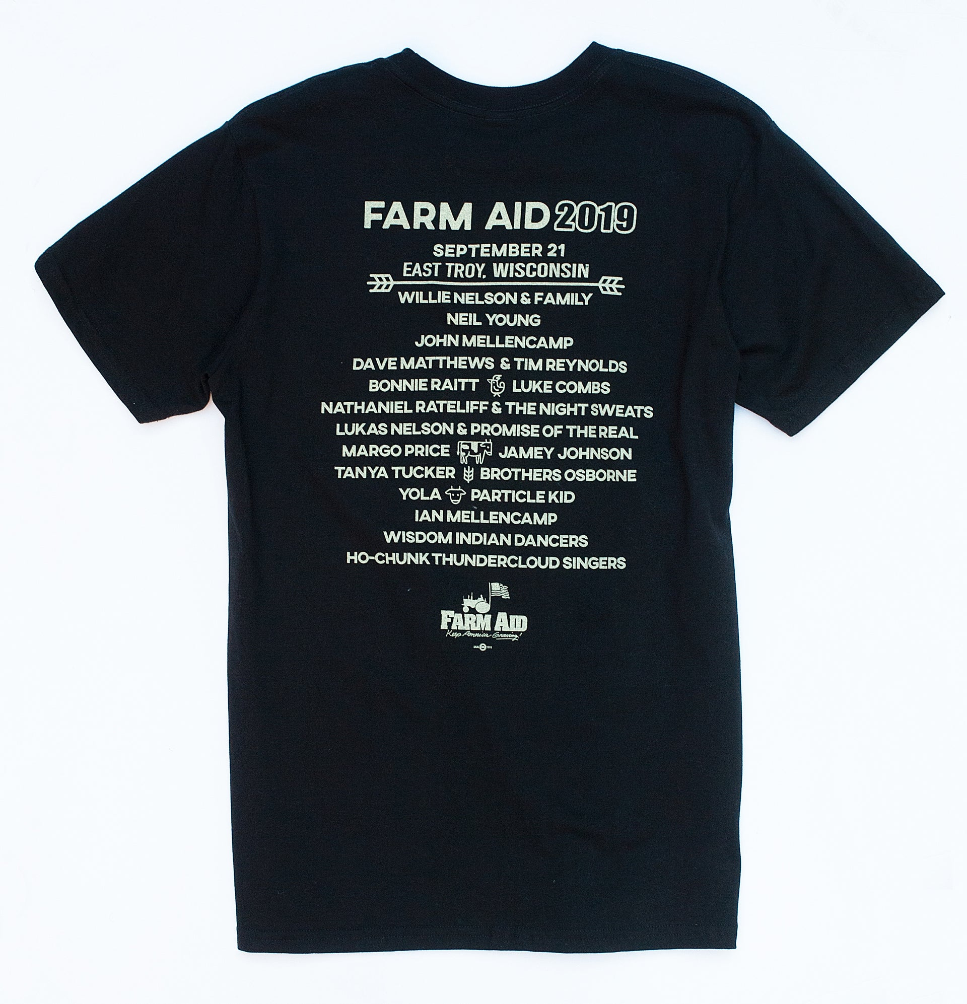 Farm Aid 2019 Black Guitar Tee (Unisex)