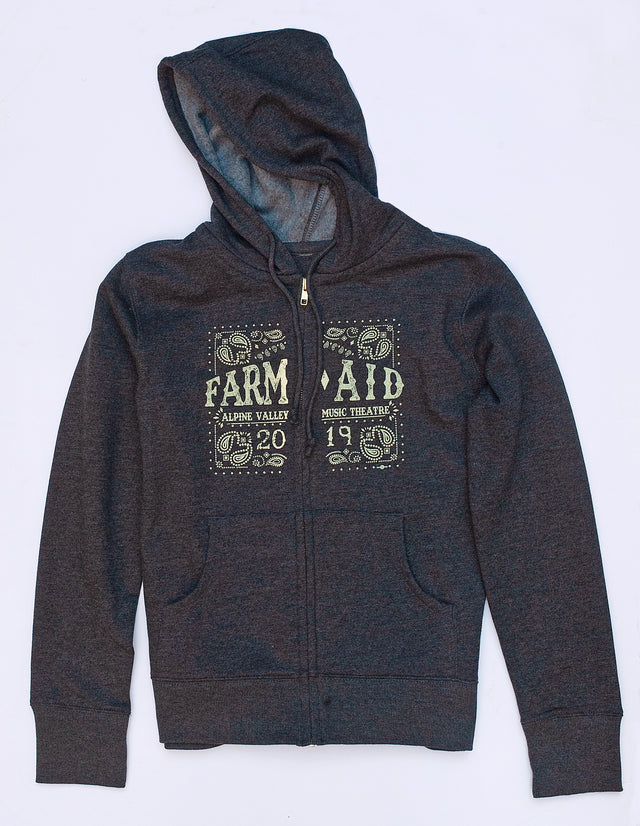 Farm Aid 2019 Charcoal Grey Full-Zip Hoodie (Women's)