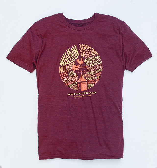 Farm Aid 2019 Red Weathervane Tee (Unisex)