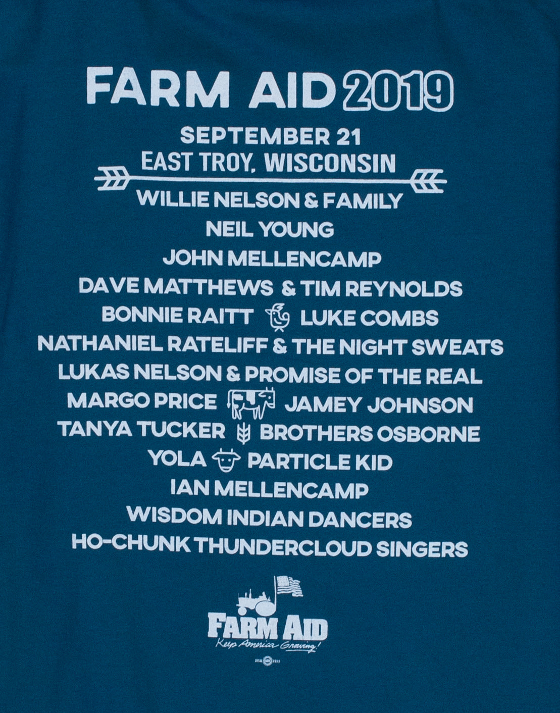 Farm Aid 2019 Blue Sunrise Long Sleeve Tee (Unisex)
