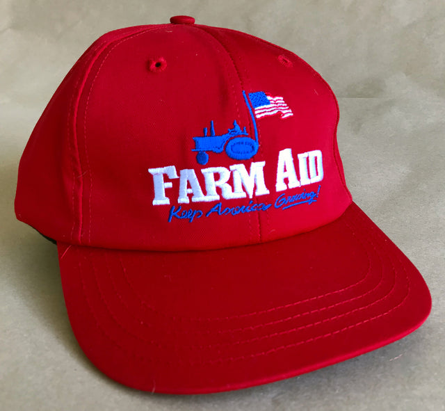 Farm Aid 2018 Red Logo Baseball Hat