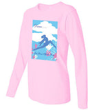 "T Shirt - Women's Pink Long Sleeve ""Dance... Let Your Spirit Soar"""