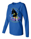 "T Shirt - Women's Sapphire Long Sleeve, ""I am a Dance Teacher"""