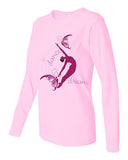 "T-shirt - Women's Pink Long Sleeve, ""Dance Dream"""