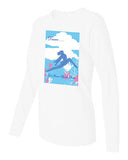 "T Shirt - Women's White Long Sleeve ""Dance... Let Your Spirit Soar"""