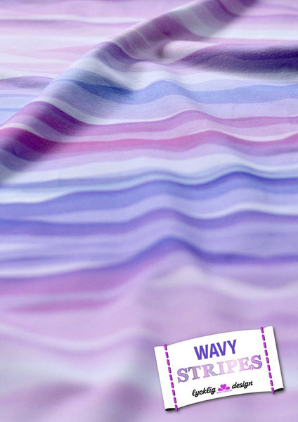 Lycklig Design: Wavy Stripes Jersey, Purples