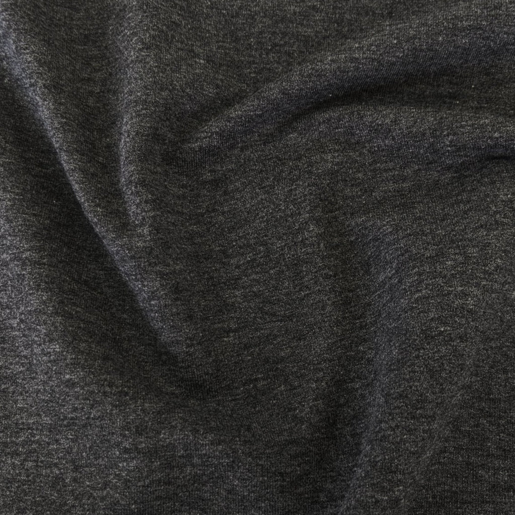 Bamboo & Cotton Stretch Fleece - Salt & Pepper