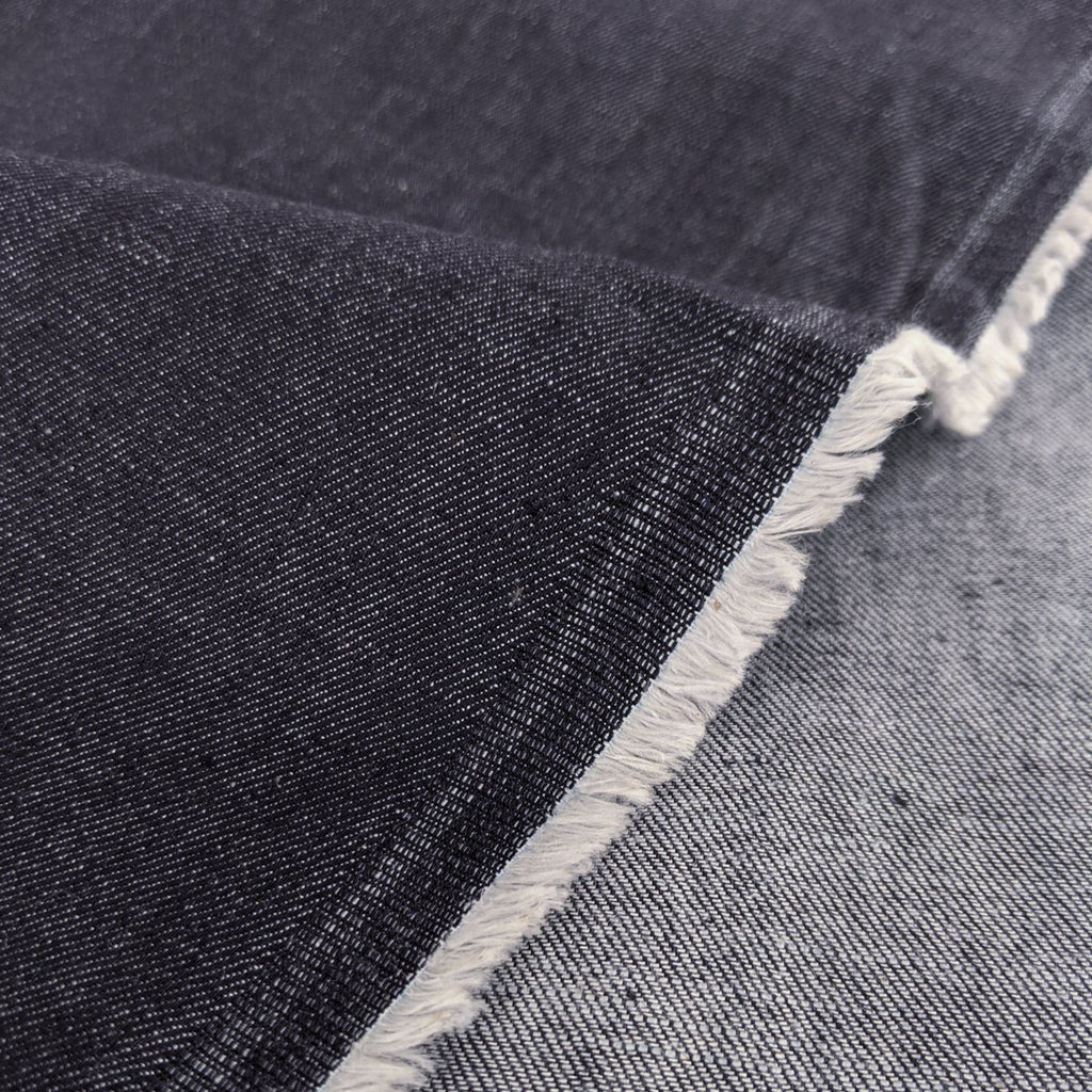 7.5oz Raw Organic Denim - Deep Indigo