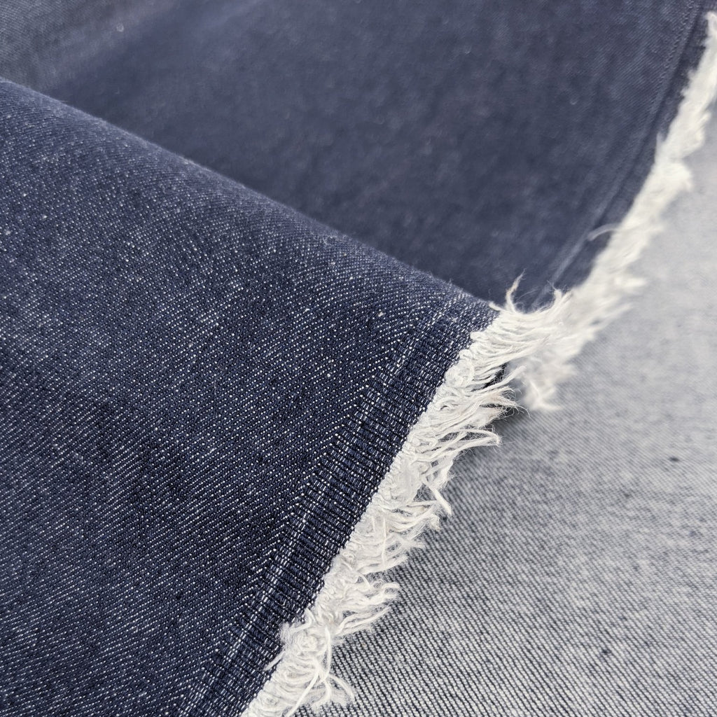 9.5oz Raw Organic Stretch Denim - Indigo