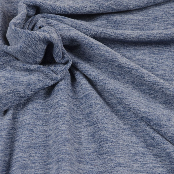 Fleece - Melange Blue