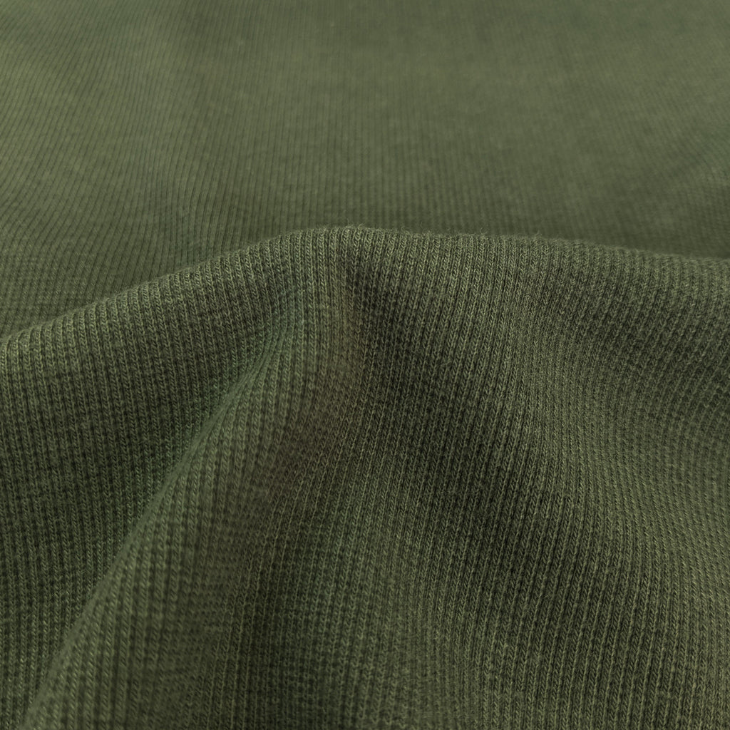 Bamboo & Cotton Stretch Fleece Coordinating Ribbing - Moss
