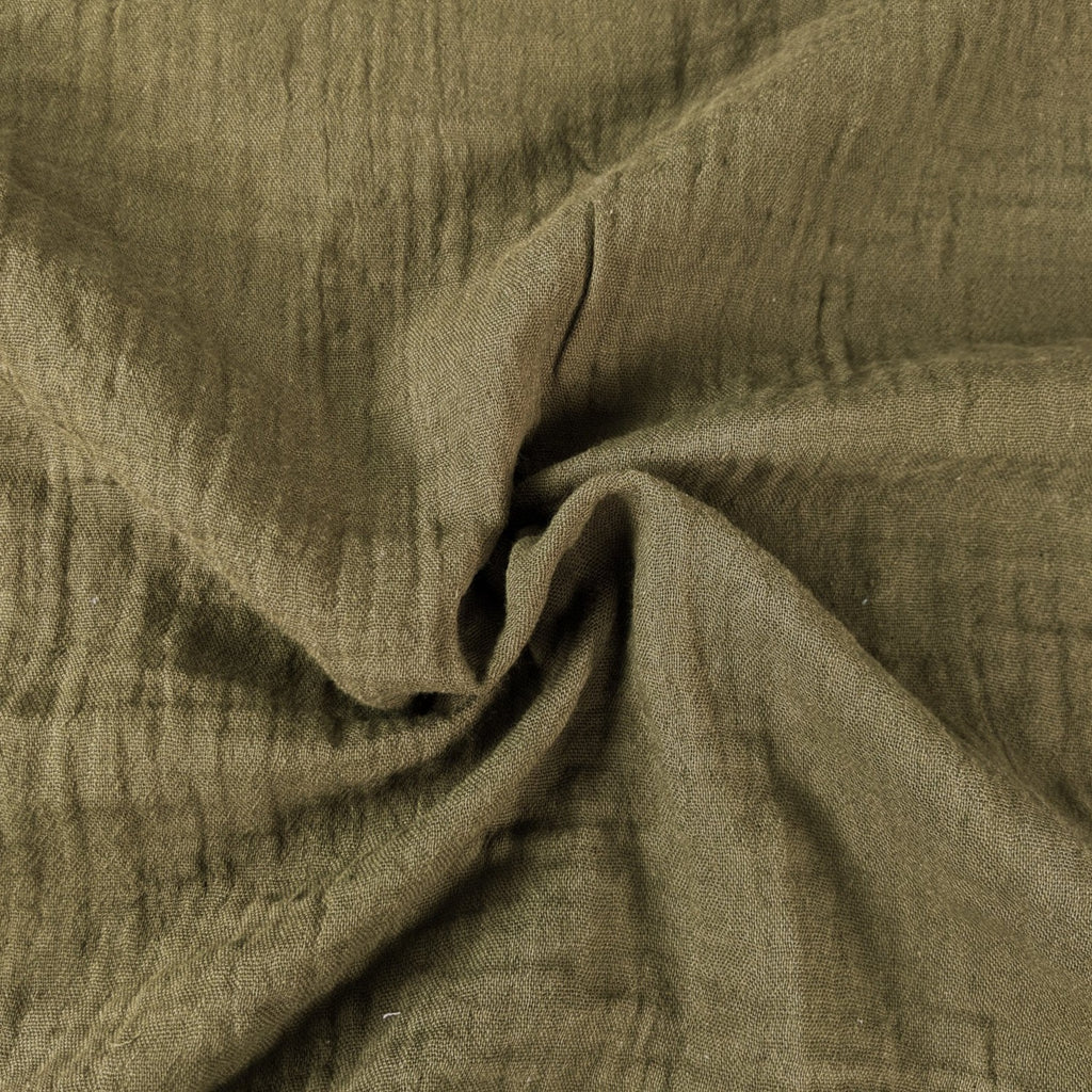 Organic Cotton Double Gauze - Olive Branch