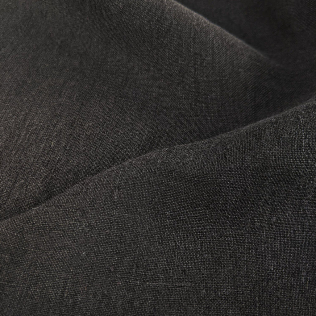 Lightweight Washed Linen - Black