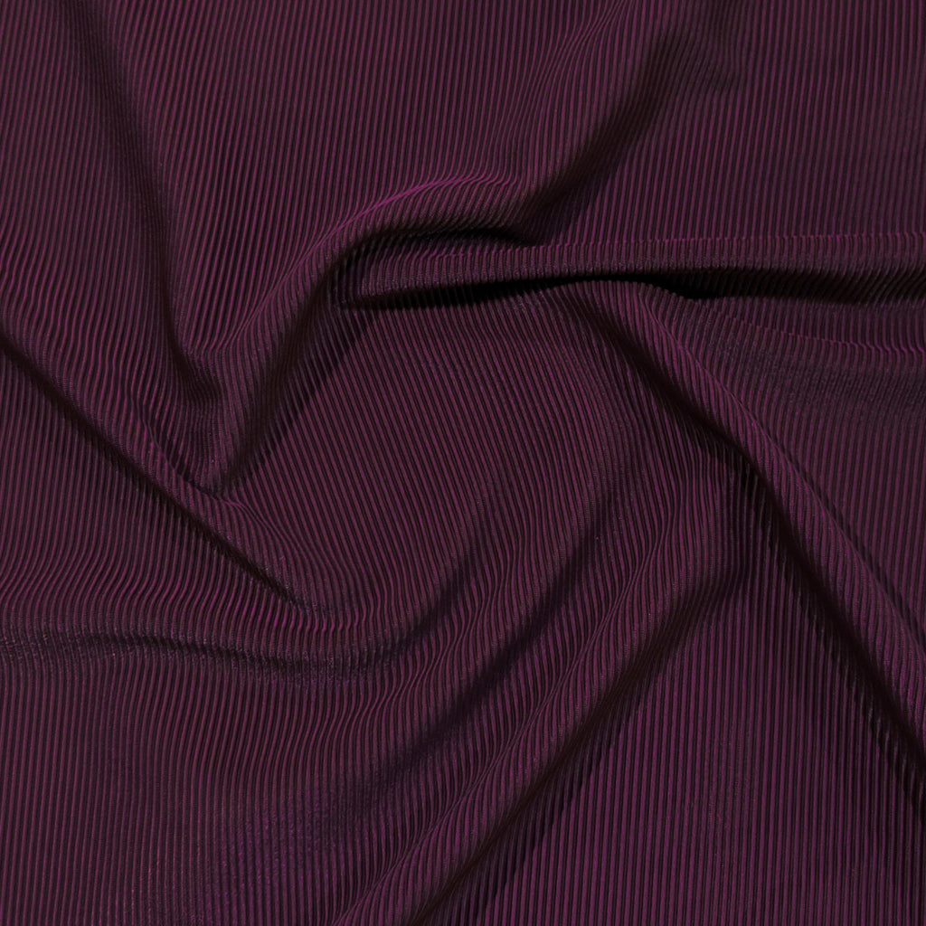 Ribbed Polyester Swim Tricot - Blackberry