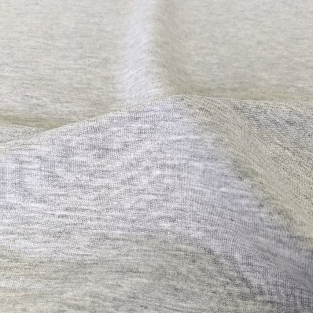 Tencel & Organic Cotton Stretch Fleece - Grey Fog
