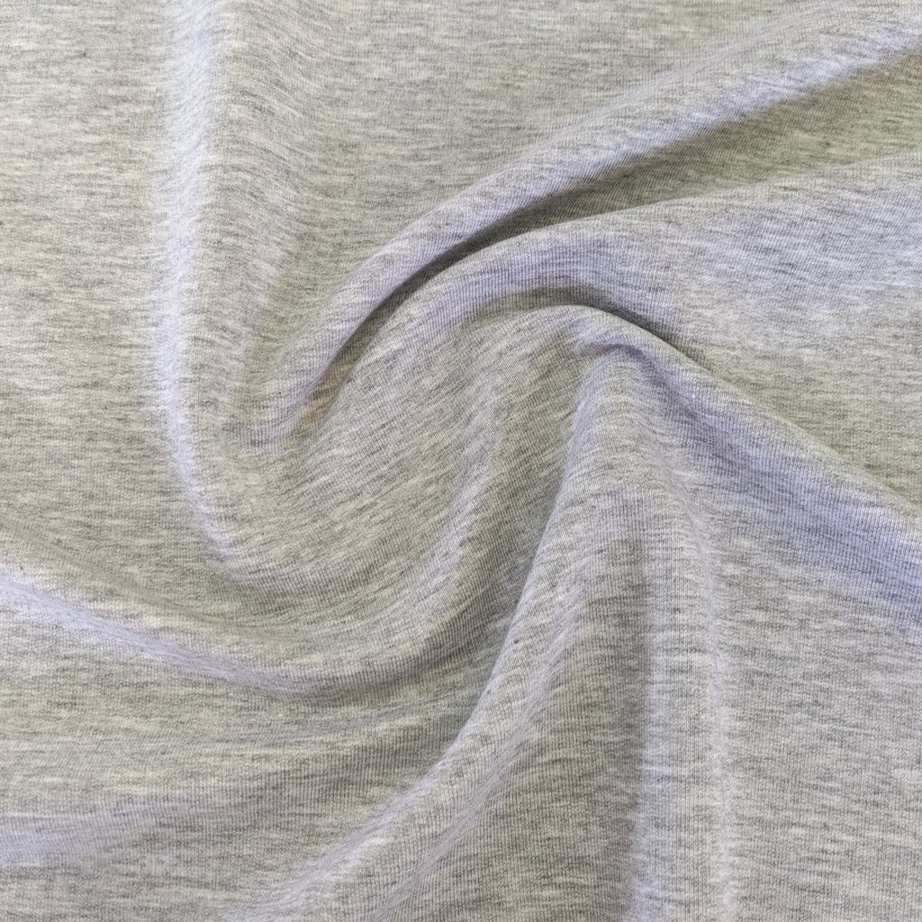 Lyocell & Organic Cotton Stretch Fleece - Grey Fog