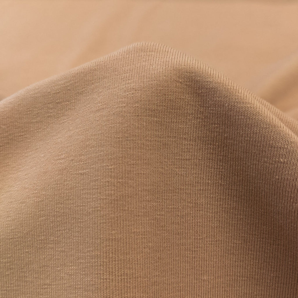 Camel Cotton Jersey Knit - Family Fabrics Coordinate