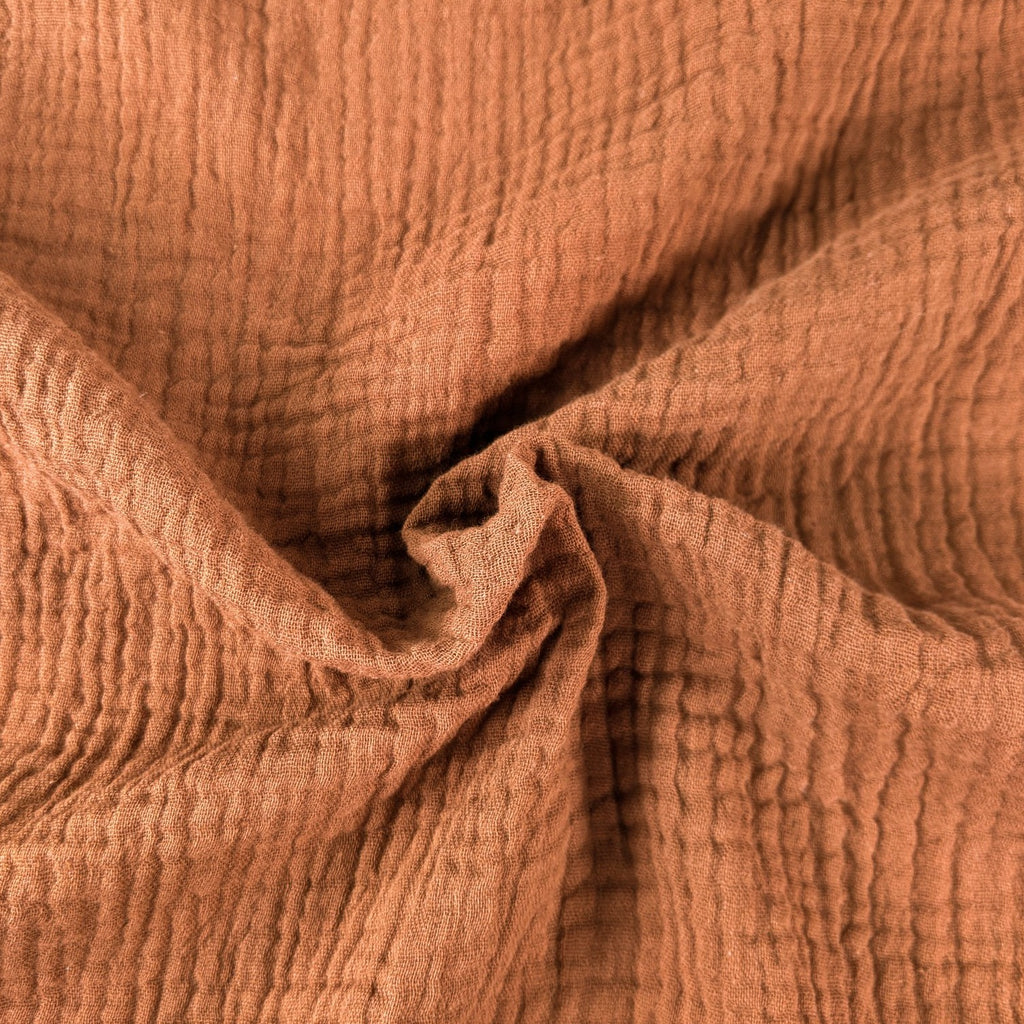 Organic Cotton Double Gauze - Cinnamon