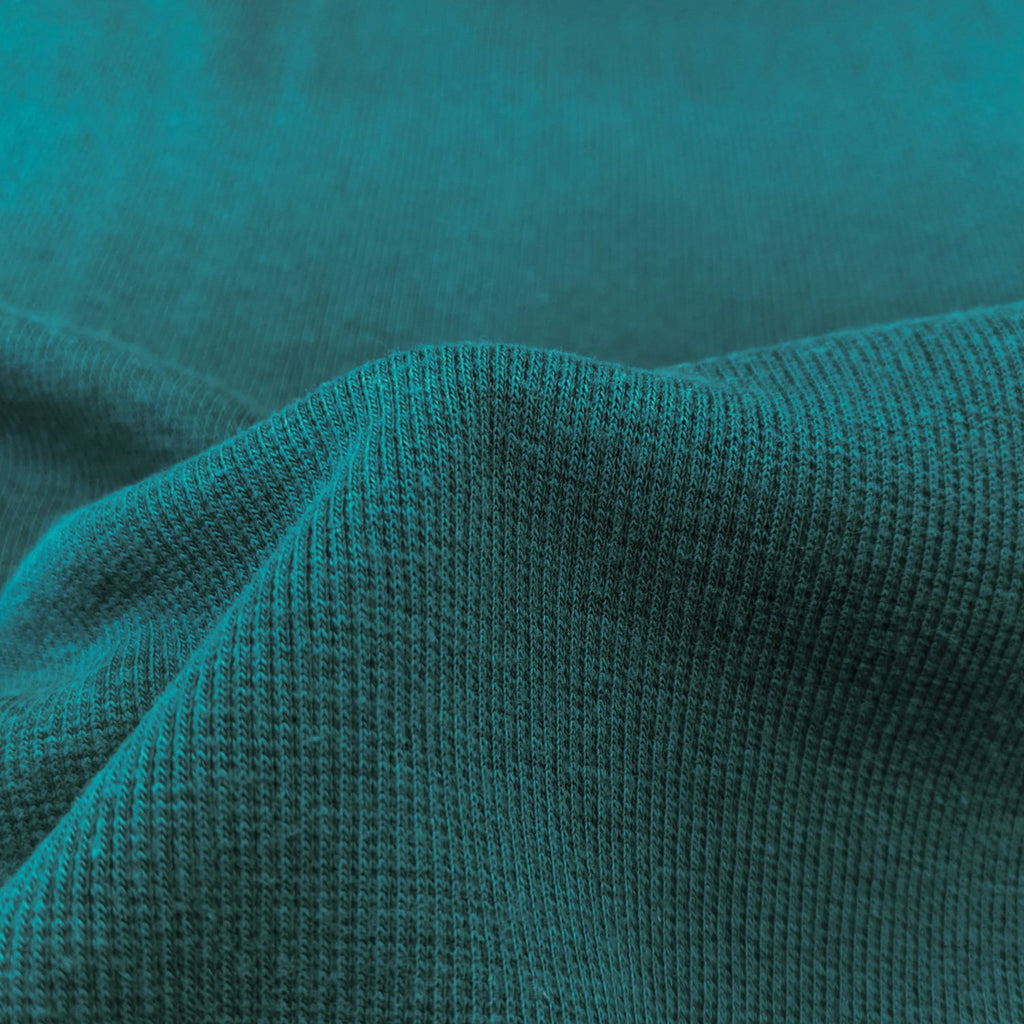 Lyocell & Organic Cotton 2x2 Ribbing - Teal