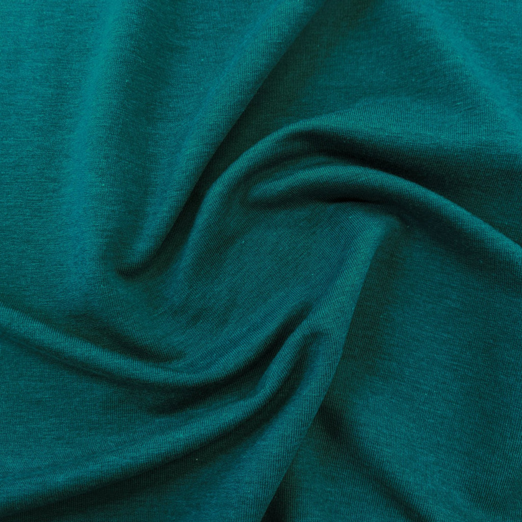 Lyocell & Organic Cotton French Terry - Teal