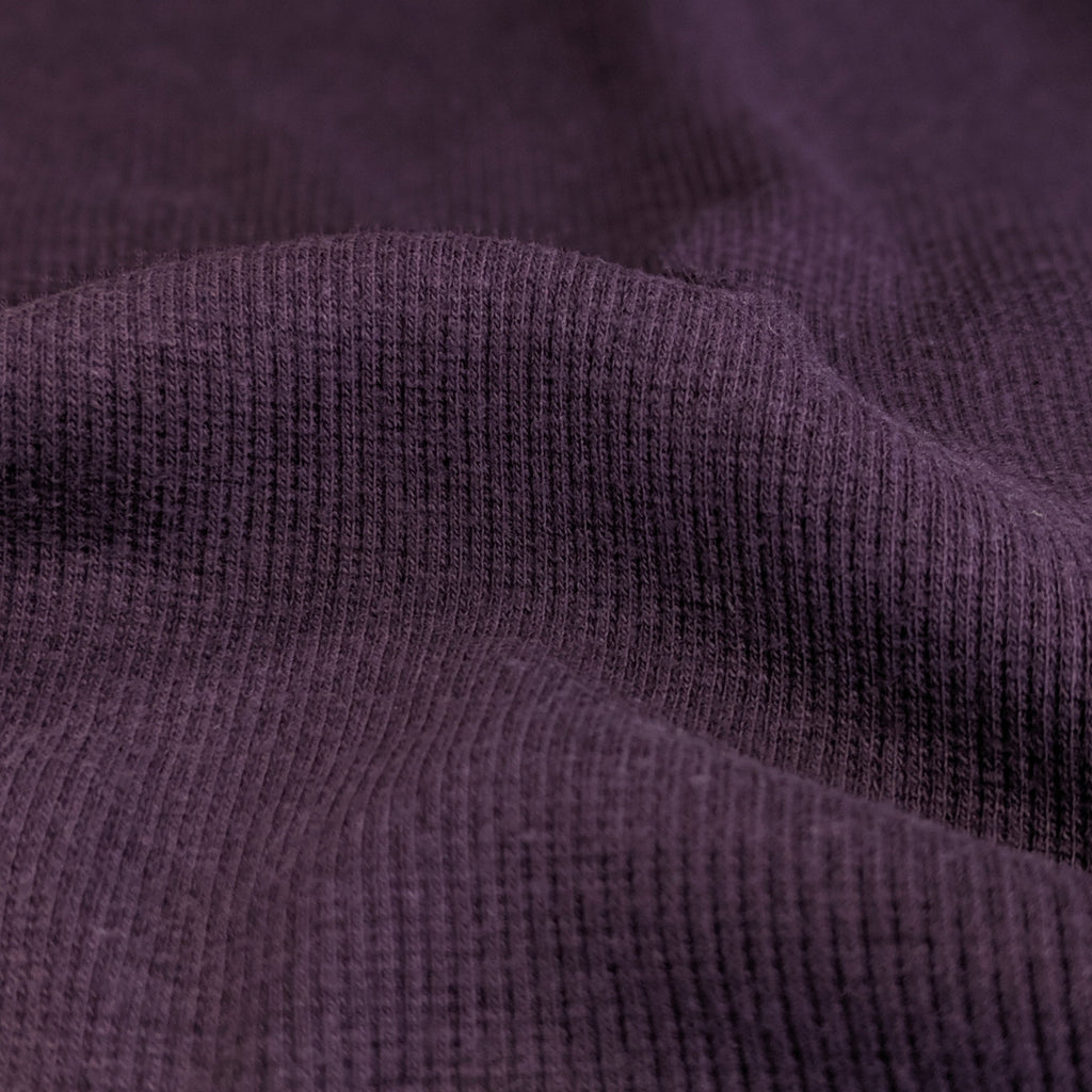 Lyocell & Organic Cotton 2x2 Ribbing - Plum