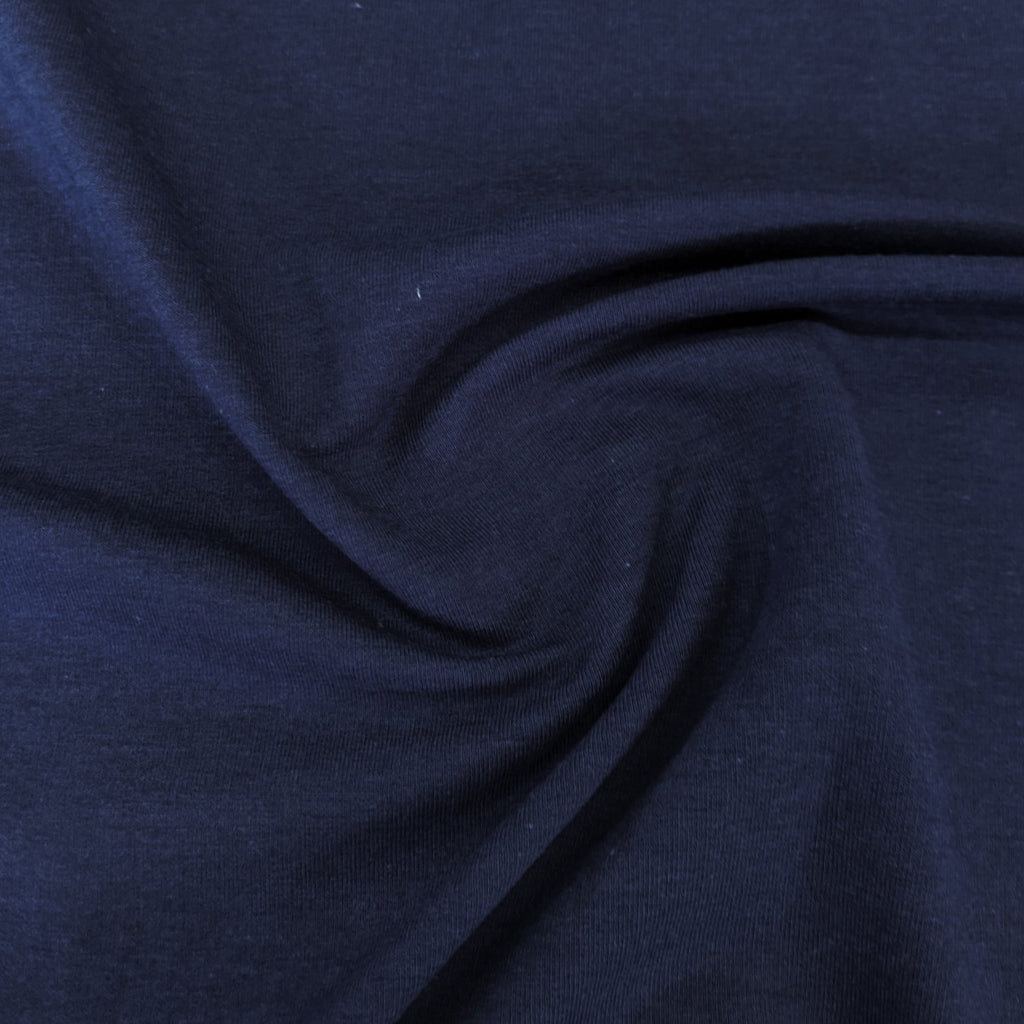 Bamboo & Cotton Stretch Fleece - Blueberry