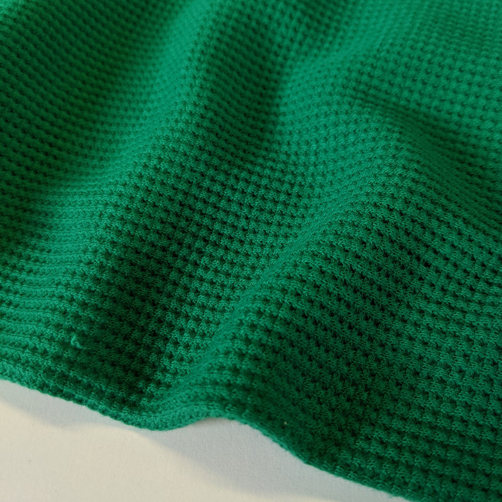 Stretch Thermal Waffle Knit - Shamrock